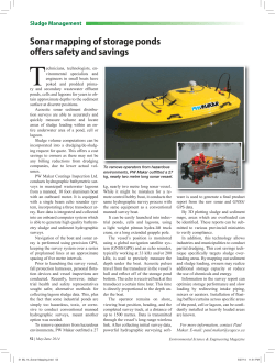 Sonar mapping of storage ponds offers operator safety