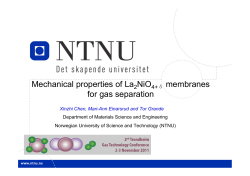 Mechanical properties of La 2 NiO 4 membranes for gas