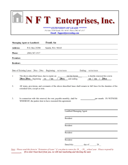 nft enterprises, inc - Seattle Apartments for Rents