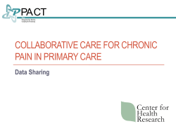 Collaborative Care for Chronic Pain in Primary