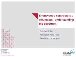 Employees v contractors v volunteers