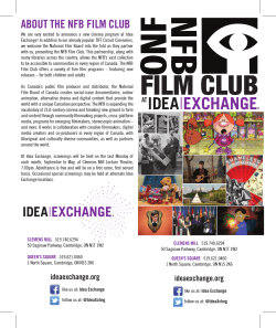 NFB Film Schedule - Cambridge Libraries and Galleries
