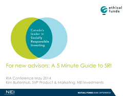 View Slides - Responsible Investment Association