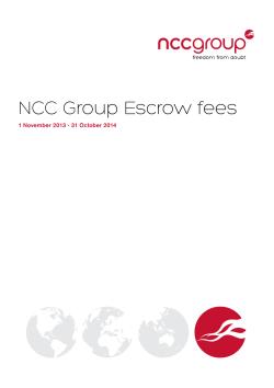 NCC Group Escrow fees