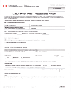 (LMO) Payment Form - University of Waterloo