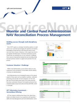 Monitor and Control Fund Administration NAV Reconciliation