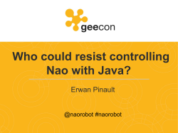Who could resist controlling Nao with Java?