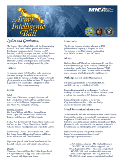 Fact Sheet - Military Intelligence Corps Association (MICA)