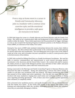 Meet Julie - Perspectives Family and Workplace Mediation Services