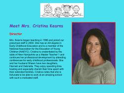 Meet Mrs. Cristina Kearns