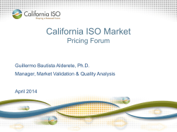 1 California ISO Market Overview