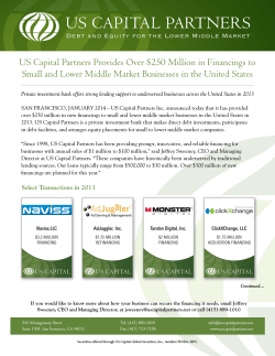 US Capital Partners Provides Over $250 Million in Financings to