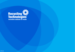 Recycling Technologies - Adrian Griffiths