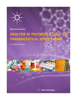Analysis of Polymers by GPC/SEC – Pharmaceutical Applications