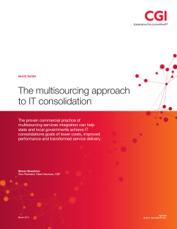 The multisourcing approach to IT consolidation