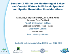 Sentinel-2 MSI in the Monitoring of Lakes and Coastal