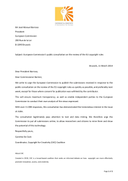 letter - Copyright for Creativity