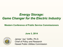 Energy Storage: Game Changer for the Electric Industry