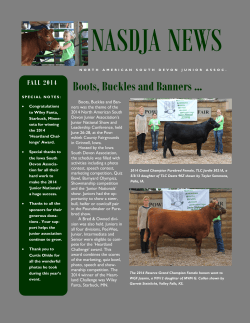 2014 Junior National Newsletter