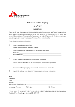 download the Pledge Form - MSF