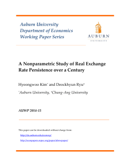 A Nonparametric Study of Real Exchange Rate
