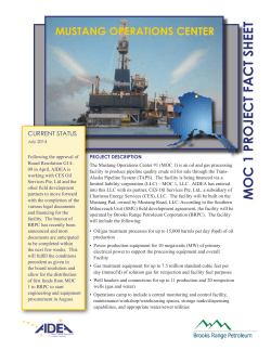 MOC 1 PROJECT FACT SHEET