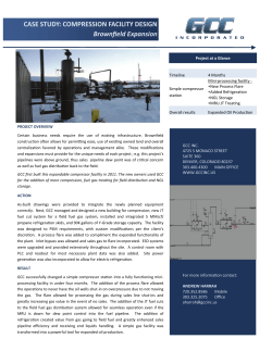 Case Study Brownfiel Expansions - Gas Compressor Consultants, Inc.