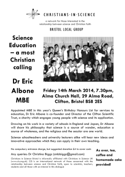 Dr Eric Albone MBE - Christians in Science