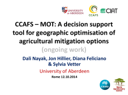 CCAFS – MOT - Food and Agriculture Organization of the United