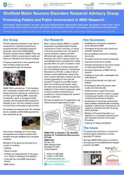 SMND RAG Poster - Clinical Research Office