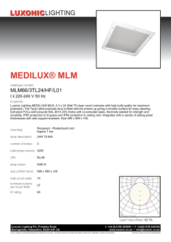 MEDILUX® MLM - Luxonic Lighting