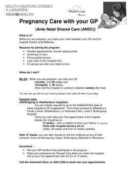 Antenatal Shared Care Brochure