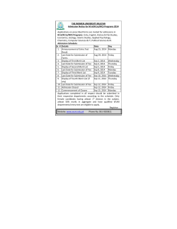Admission Notice MA/MSc/MCS 2014