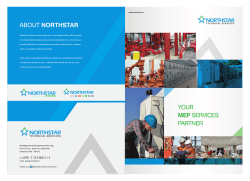 YOUR MEP SERVICES PARTNER ABOUT NORTHSTAR