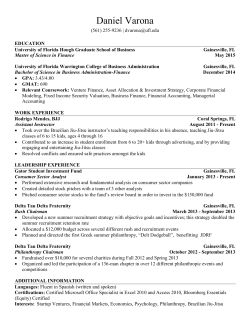 Resume - Warrington College of Business Administration
