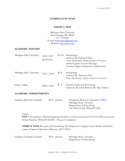 CURRICULUM VITAE EMERY J. MAX Michigan State University