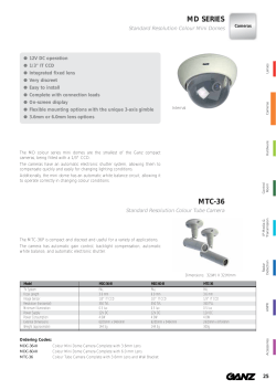 Ganz MDC-36-III Dome cameras product datasheet