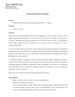 Internship Program Description