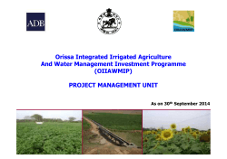 OIIAWMIP - Deptt. of Water Resources, Odisha