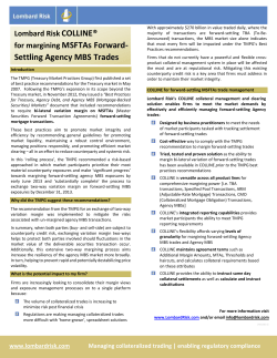 for margining MSFTAs Forward- Settling Agency MBS Trades