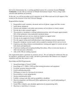 MCO Telecom Technician Job Advert (1) 190314