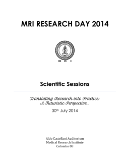 abstract book - Medical Research Institute