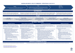QMHC Operational Plan Overview 2014-15