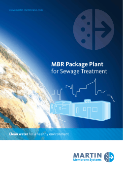 MBR Package Plant for Sewage Treatment