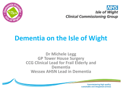 Dementia on the Isle of Wight