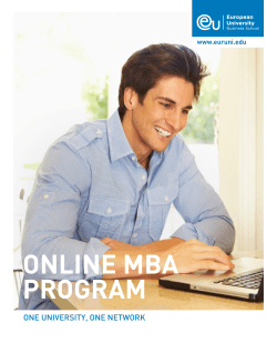 ONLINE MBA PROGRAM - European University