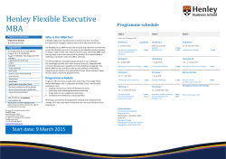 Henley Flexible Executive MBA