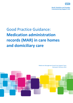(MAR) in care homes and domiciliary care.
