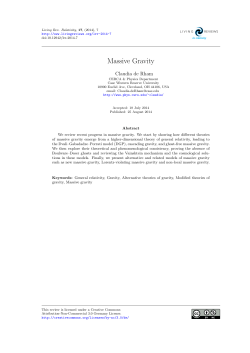 Massive Gravity - Mathematical Institute Home Page