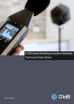 Technical Data Sheet 01dB Smart Building AcousticsSolution